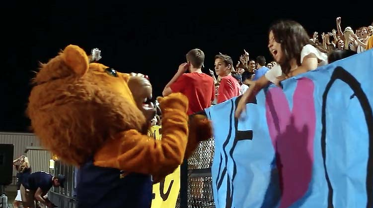 A game in the life of a mascot