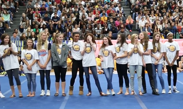 Students end football season with senior night events