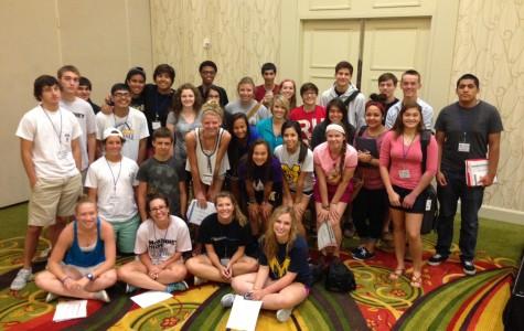 Journalism students attend the 2013 Gloria Shields Workshop.