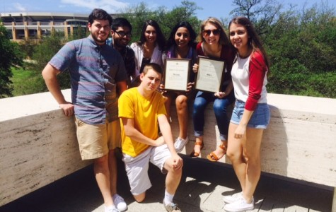 Yearbook staff members Isaac Monro, Giovanni Sabala, Jessica Vigil, Norma Salinas, Anne Penprase, Nicole Stuessy and Colin Mitchell attended the state journalism convention in Austin April 17-19.