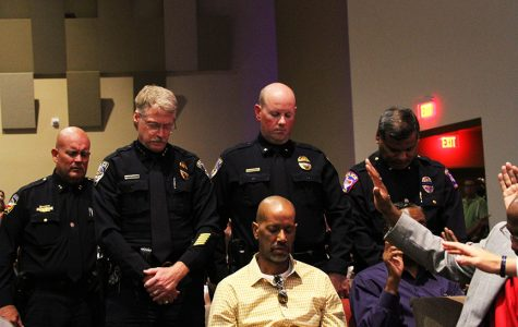 Community gathers to honor police officers, discuss race issues
