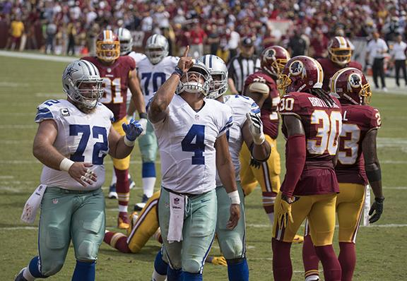 Cowboys at Redskins 9/18/16