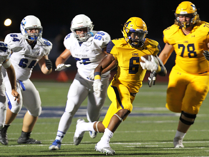 Cordrick Dunn rushed for 340 yards against Midlothian.