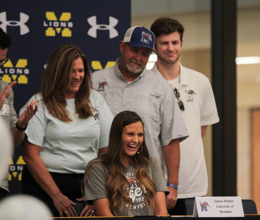 Emma Ponder signs to Memphis University for softball.