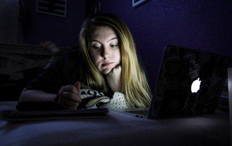 Senior Kayla Thompson studies for her AP tests.