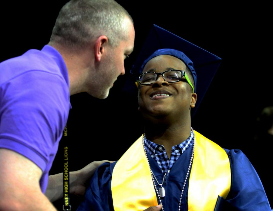 Class of 2021 walks stage at graduation